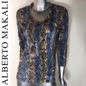Gorgeous Alberto Makali Snake Print Top